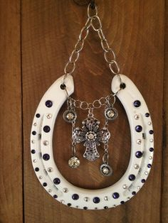 LUCKY HORSESHOE white wall decor good luck wedding by LuckAdorned, $80.00