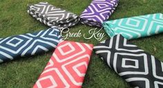 Greek Key Infinity Scarf Personalized with by BlueSuedeStitches