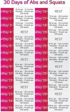 30 Dyas of Abs and Squats - New challenge to do with the hubby!!