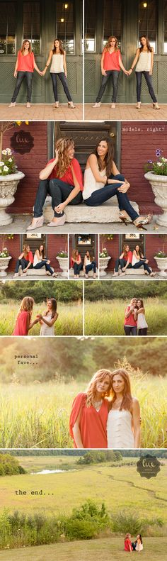 "Lux Senior Photography | Epic | ""BFF Shoot"" with Christin & Alison  @savanah Crawford we are so going to have a photoshoot like this before next summer!"