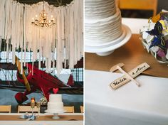 Whimsical Wedding in an Airplane Hanger: Alex + Keith
