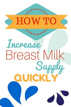 14 Simple Tips to Increase your breast milk supply. Especially after a csection. Breastfeeding tips after birth. Pregnancy, Babies, and Parenting