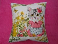 Children's kitsch cushion/pillow cover with cute by KukuLele, £15.50