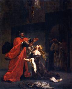 Eugène Delacroix ~ Desdemona vervloekt door haar vader ~ 1852 ~ Olieverf op doek ~ 59 x 49 cm. ~ Musée des Beaux-Arts, Reims