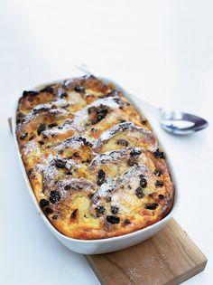 Hot cross bun-bread & butter pudding