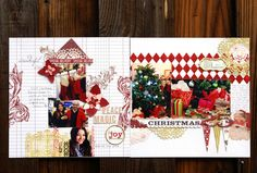 Scrapbooking. double page (2 page) layout. Christmas. Paper: Teresa Collins Designs