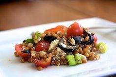 Greek wheat berry salad. Yum.