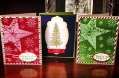 Stampin Up Christmas cards 2013