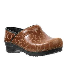Take a look at this Cognac Original Professional Ginny Clog - Women by Sanita on #zulily today!
