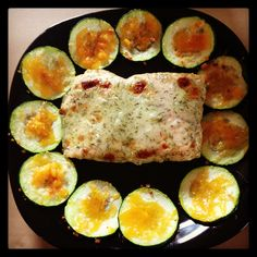 Dill salmon and Baked Zuchinni Chip! Yum!