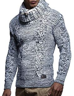 innovative design 7eb7a 86a01 LN7135 Men s Knitted Turtleneck Pullover