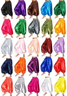 S harem yoga genie trousers belly dance pants costume dress outfit select colors Dance Costumes Kids, Theatre Costumes, Belly Dance Costumes, Aladdin Musical, Aladdin Play, Aladdin Theater, Yoga Trousers, Trouser Pants, Harem Pants
