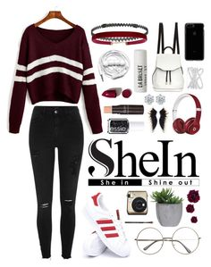 """SheIn"" by sejal1043 ❤ liked on Polyvore featuring River Island, adidas, BERRICLE, Lux-Art Silks, Humble Chic, Urbanears, L:A Bruket, Essie, rag & bone and NARS Cosmetics"