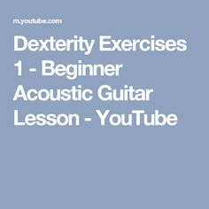This guitar lesson vid shows you how to improve your fretboard technique with finger dexterity exercises! It shows you the chords, technique and style. Acoustic Guitar Lessons, Guitar Tips, Guitar Shop, Music Guitar, Guitar Exercises, Types Of Guitar, Easy Guitar, Guitar For Beginners, Lady And The Tramp