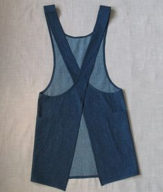 cross back japanese apron patterns - Yahoo Image Search Results - Moldes ropa - Nahen