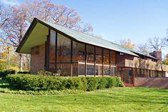 Charles F. Glore House. 1951. Lake Forest, Illinois. Usonian Style. Frank Lloyd Wright.