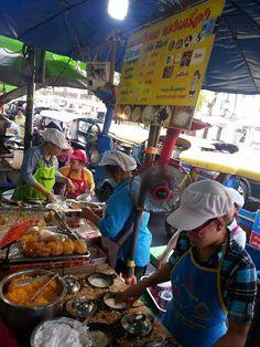 Open market in Thailand.