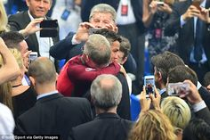 Cristiano Ronaldo received a warm embrace from special guest Sir Alex Ferguson in Paris on...