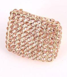 Gold Rhinestone ring, fashion jewellery, Rhinestone fashion ring
