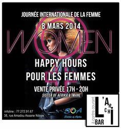 Ce weekend... Samedi pour la journée de la #FEMME.  #SOA et #Imane s'invitent au #Ganalé, apéro, ventes à 17h. http://www.wakhart.com/events/women/