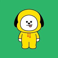 Cartoon Wallpaper, Bts Wallpaper, Bts Beautiful, Yellow Hoodie, Line Friends, Bts Drawings, Cute Doodles, Bts Chibi, Bts Pictures