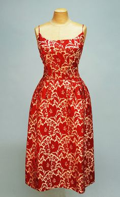 Pauline Trigere Silk brocade dress and jacket, 1950's.