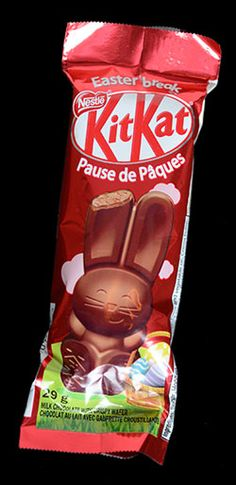 "Easter Break ""Kit Kat"" Chocolate Bunny, Best Chocolate, Kit Kat Bars, Easter Breaks, Chocolate Filling, Cute Bunny, Things To Think About, How To Look Better, Candy"