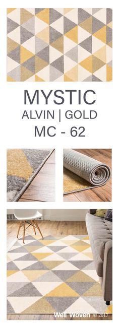 ALVIN GOLD MODERN GEOMETRIC RUG