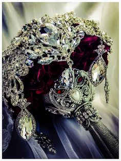 Merlot Ruby Red Silver Brooch Bouquet. by NatalieKlestov.  To see the source оf this item click on the picture. Please also visit my Etsy shop LarisaBоutique: https://www.etsy.com/shop/LarisaBoutique Thanks!