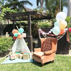 Boho Chic Baby Shower Party Ideas | Photo 1 of 23 | Catch My Party