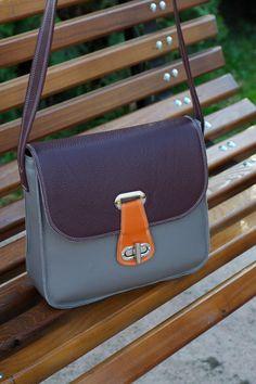 MESSENGER BAG , Leather Shoulder Bag ,Leather Purse, Crossbody Bag , Woman Handbag