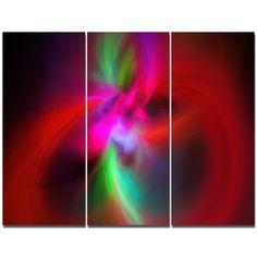 DesignArt 'Red Spiral Kaleidoscope' Graphic Art Print Multi-Piece Image on Canvas
