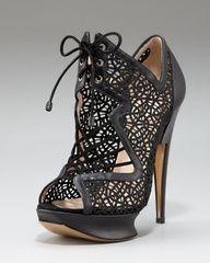Glittered Macrame Lace-Up Platform Sandal by Nicholas Kirkwood at Neiman Marcus. Live lusciously with LUSCIOUS: www.myLusciousLife.com