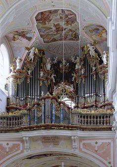 Ochsenhausen Deutschland, Baden-Württemberg Ehem. Abteikirche St. Georg Kuhn orgelbau