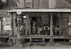 Country Store on Dirt Road by Dorothea Lange, 1939
