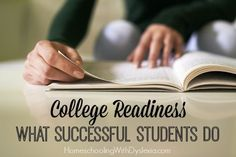 College Readiness What Successful Students Do