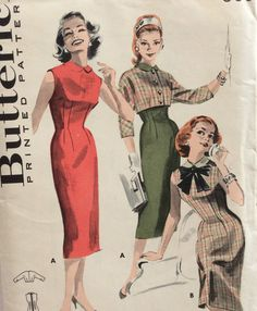 Hey, I found this really awesome Etsy listing at https://www.etsy.com/listing/263528052/butterick-8213-vintage-1950s-misses