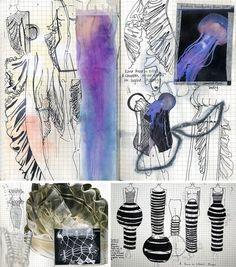 Fashion design sketchbook by Amber Hards