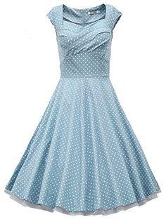 MUXXN® Women 1950s Vintage Retro Capshoulder Party Swing Dress (L, Turquoise Polka Dot) MUXXN http://www.amazon.com/dp/B00Z5V7Q92/ref=cm_sw_r_pi_dp_MstGvb0AEVJZZ