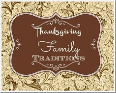 Lou  Lou  girls : Thanksgiving Family Traditions