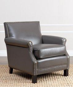 Chloe Leather Club Chair #zulily #zulilyfinds