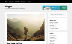 Blogger is a clean and cool free blogging WordPress theme created for just that – blogging. The theme is centered around your blog posts and uses squeaky clean code to keep it fast and user friendly.
