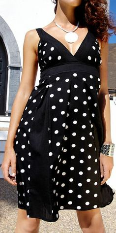 Adorable Black Polka Dot Dress