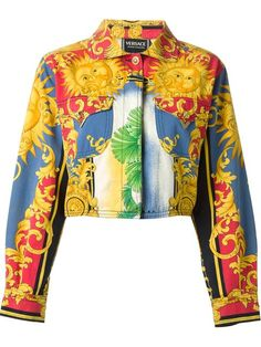 Shop Versace Vintage sun baroque print jacket in House of Liza from the world's best independent boutiques at farfetch.com. Shop 400 boutiques at one address.