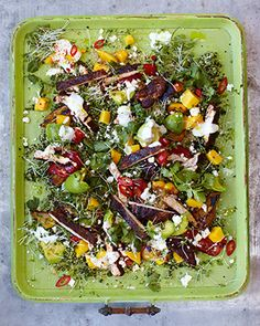 This is a great salad, I always feel fantastic after eating it. Mmmm, Mango. Blackened chicken, san fran quinoa salad. Does not require cress, or indeed quinoa, couscous is much more affordable and available here.