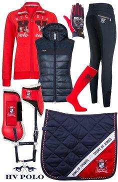 .HV Polo Winter Red Chloe - #Epplejeck #red #darkblue #redchloe #hvpolo…