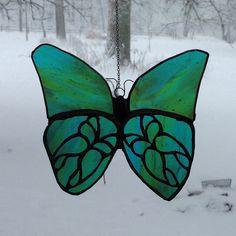 Butterfly stainedglass suncatcher