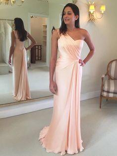 Elegant One Shoulder A-Line Prom Dresses,Long Prom Dresses,Green Prom Dresses, Evening Dress Prom Gowns, Formal Women Dress,Prom Dress,C684