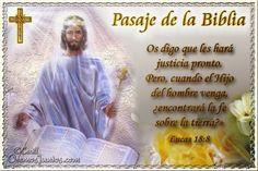 Vidas Santas: Santo Evangelio según san Lucas 18:8