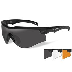 761c8cbc69 Wiley X Rogue Sunglasses - Grey-Clear-Rust Lens - Matte Black Frame